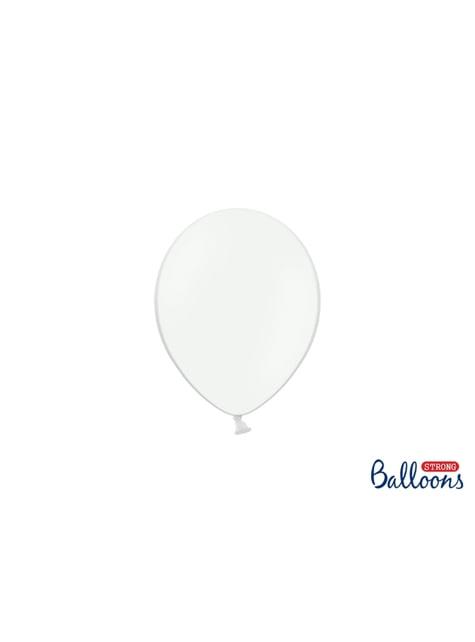100 globos extra resistentes blanco (12 cm)