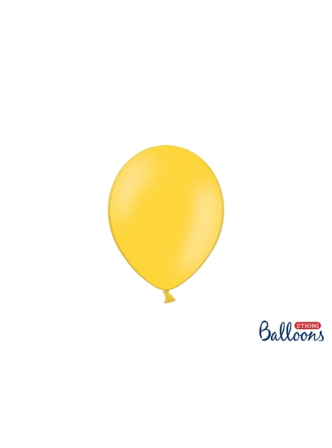 100 ballons extra résistants 12 cm jaune
