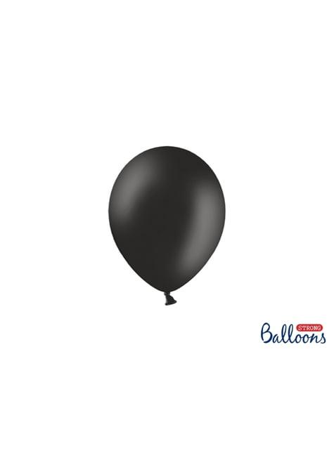 100 globos extra resistentes negro (12 cm)