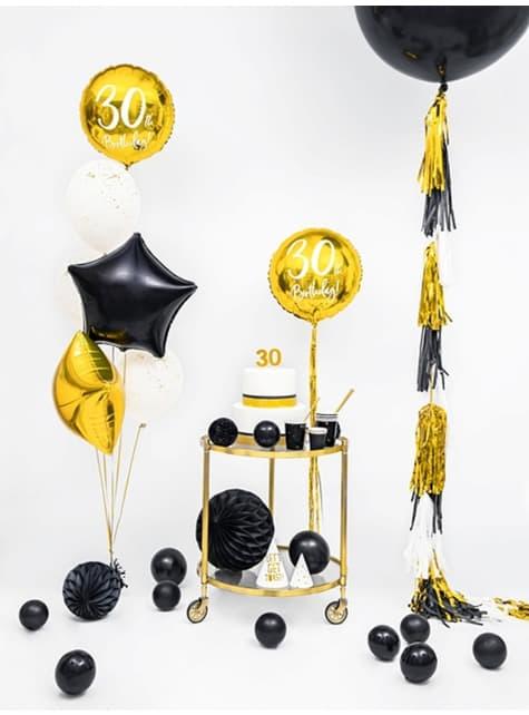 100 ballons extra résistants 12 cm noir