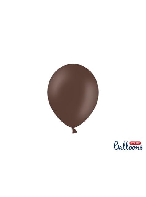 100 sterke ballonnen in donkerbruin, 12 cm