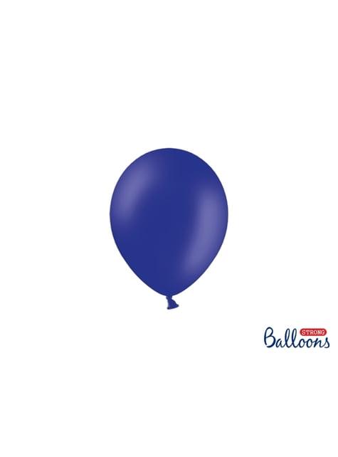 100 sterke ballonnen in koningsblauw, 12 cm