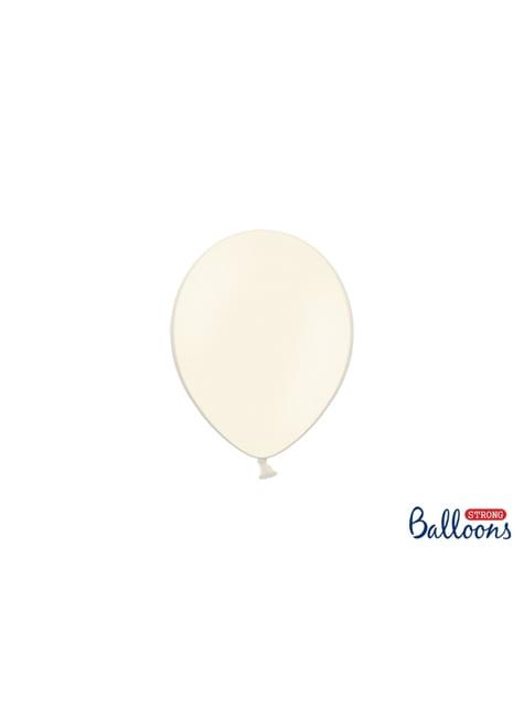 100 sterke ballonnen in pastel beige, 12 cm