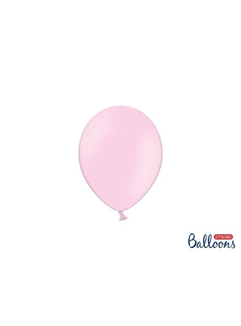100 sterke ballonnen in roze, 12 cm