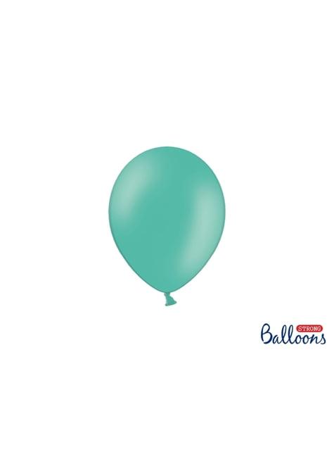 100 sterke ballonnen in turquoise blauw, 12 cm