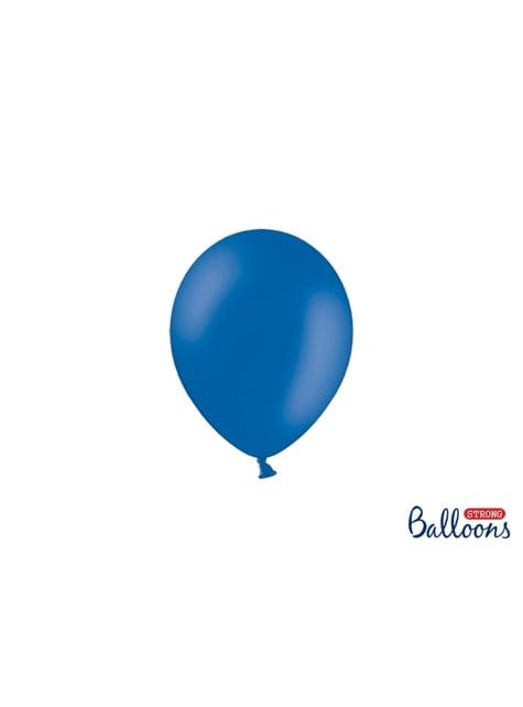 100 ballons extra résistants 12 cm bleu pastel