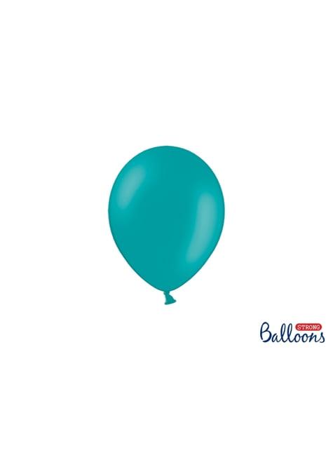 100 sterke ballonnen in hemelsblauw, 12 cm