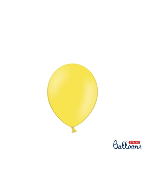 100 silných balónků ve světležluté pastelové barvě, 12 cm