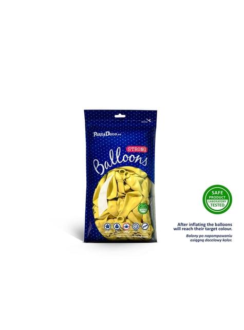 100 Palloncini super resistenti di 12 cm giallo chiaro pastello