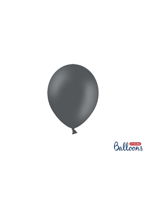 100 globos extra resistentes gris (12 cm)