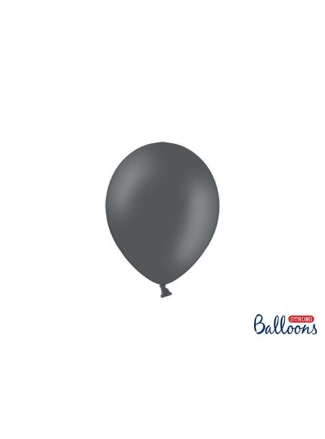 100 sterke ballonnen in grijs, 12 cm
