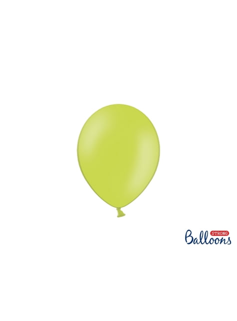100 silných balónků ve světlezelené pastelové barvě, 12 cm