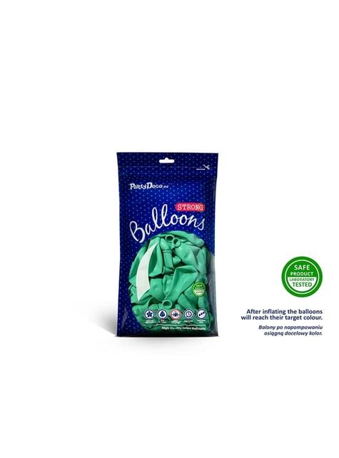100 globos extra resistentes verde menta (12 cm)