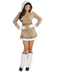 Disfraz de esquimal sexy para mujer talla grande