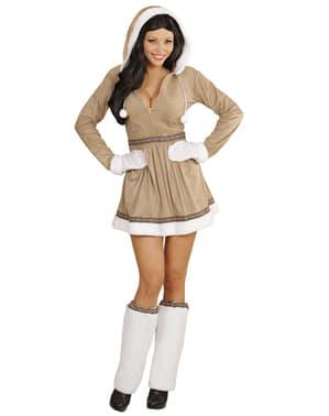 Sexy Eskimo Kostüm für Damen große Größe