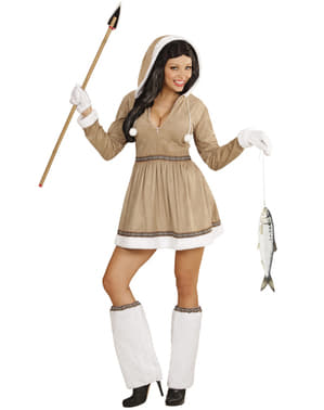Eskimo sexy kostuum voor vrouw grote maat