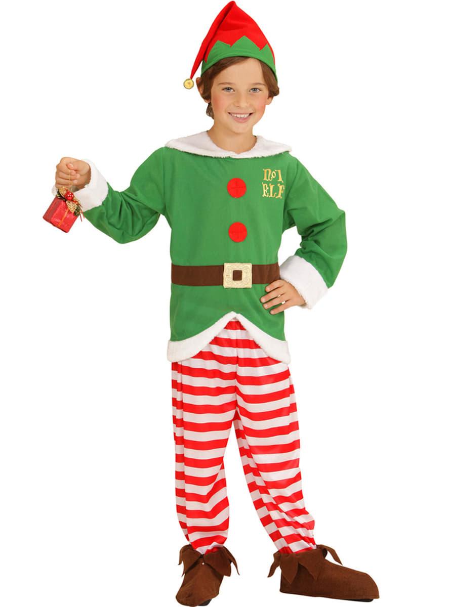 Disfraz de elfo ayudante de santa claus para ni o funidelia - Disfraz de santa claus para nino ...