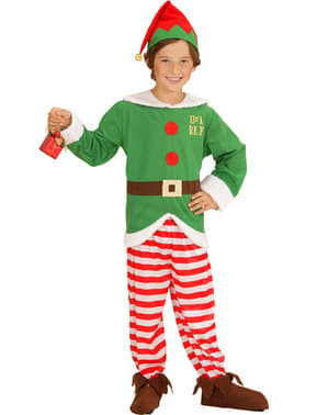 Fato de elfo ajudante de Pai Natal para menino