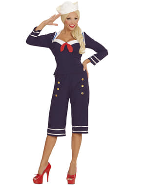 Disfraz de marinera de los años 50's para mujer