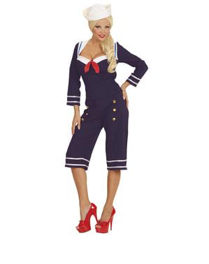 Fato de marinheira dos anos 50's para mulher