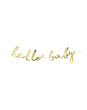 Girlanda Hello Baby v zlatej farbe - Little Star