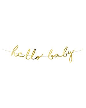 Hello Baby girland zlatni - Mala zvijezda