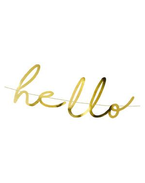 "Златист надпис ""Hello Baby""– Little Star"