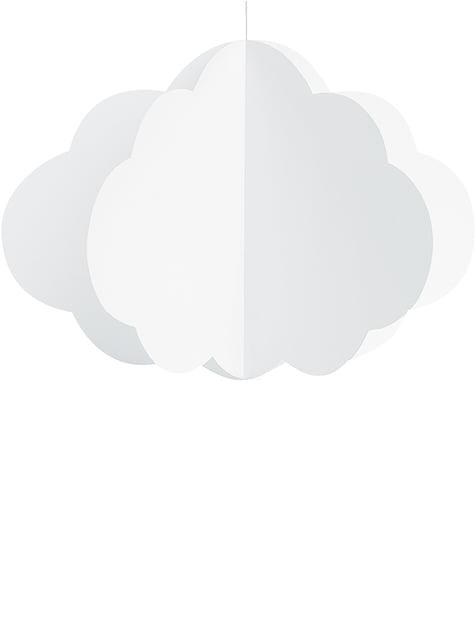 3 Nubes de papel colgantes - Golden Sky