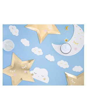 Guirlande nuages avec  cils - Little Star