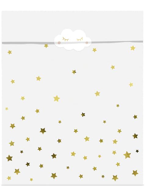 6 bolsas de chucherías con estrellas y lunas - Golden Sky - para tus fiestas
