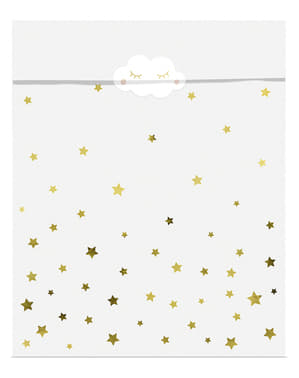 6 Ster & Maan feest tassen - Golden Sky