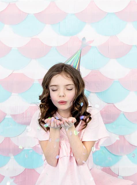 Gorritos cola de sirena iridiscente - Iridescent Mermaid - 6 unidades - para niños y adultos