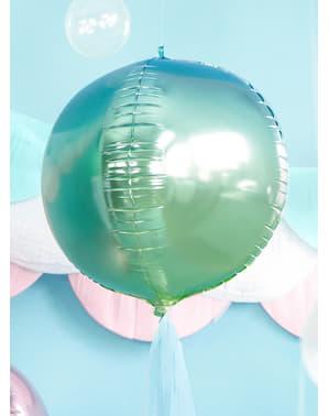 Mavi & Yeşil Yanardöner Yuvarlak Balon - Yanardöner Denizkızı