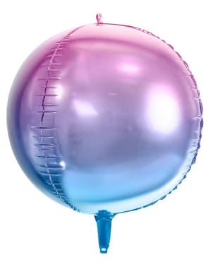 Värikäs pyöreä pallo, sininen & violetti - värikäs merenneito