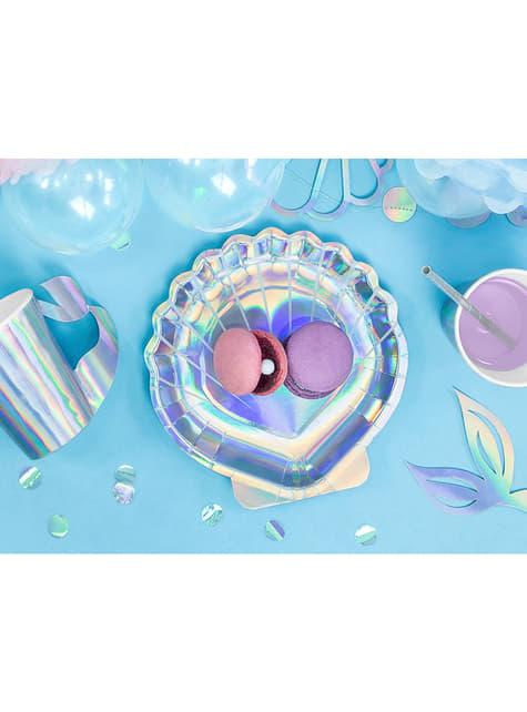 Platos con forma de concha iridiscente - Iridescent Mermaid - barato
