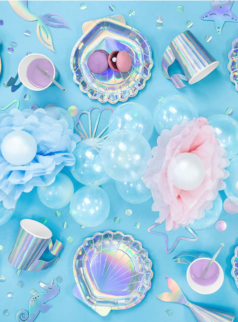 Platos con forma de concha iridiscente - Iridescent Mermaid - comprar