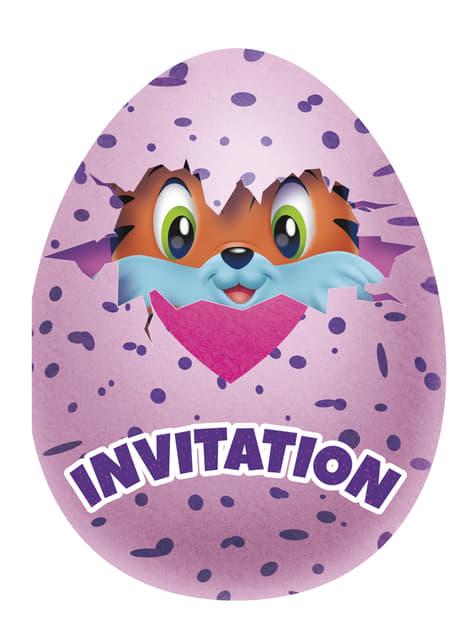 8 Hatchimals festinvitationer