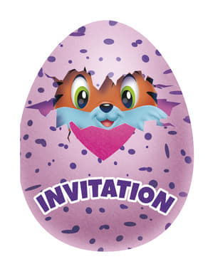 8 Hatchimals Party Invitations