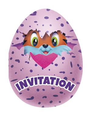 8 invitaciones Hatchimals