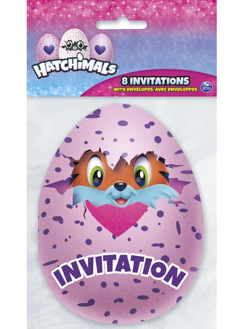 8 Hatchimal Feest Uitnodigingen