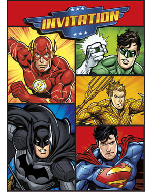 8 invitations Justice League