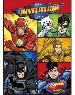 8 Justice League Inbjudningskort