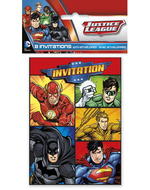 8 Justice League Festinvitationer