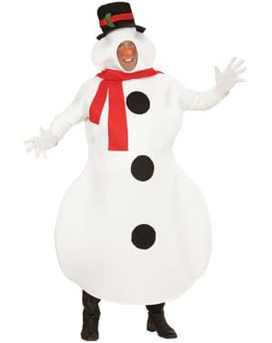 Fato de boneco de neve para homem