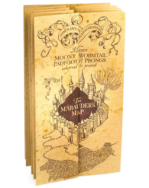 Marauderova karta replika mape Harry Potter