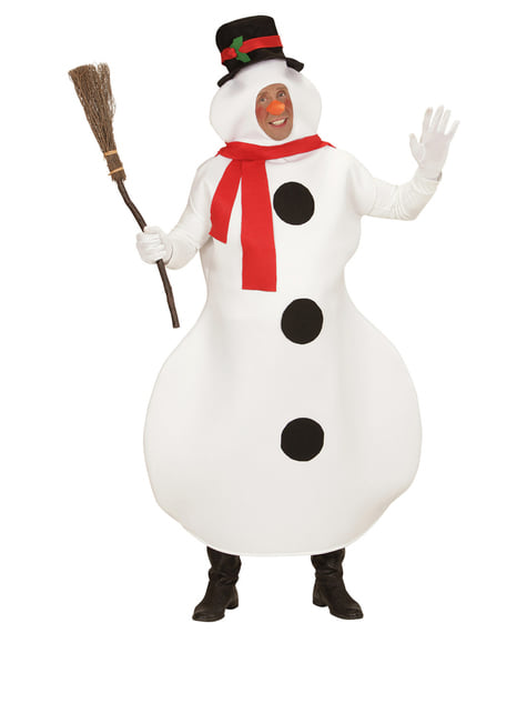 Snowman costume for a man