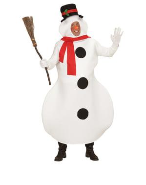 Pánsky kostým snehuliak
