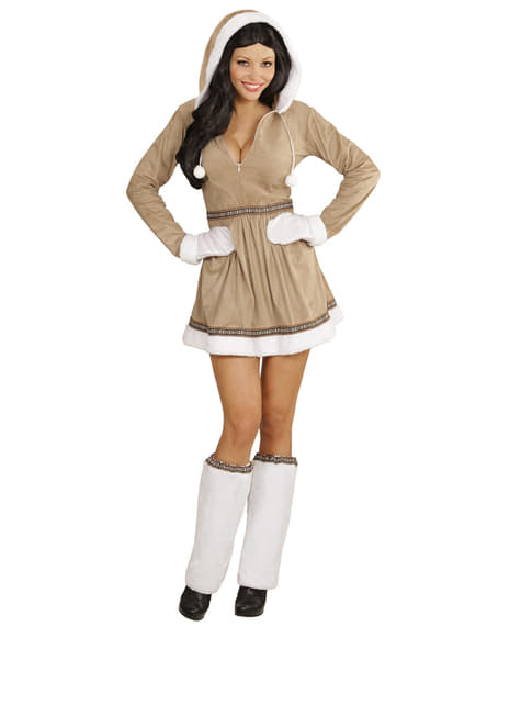 Eskimo girl costume for a woman