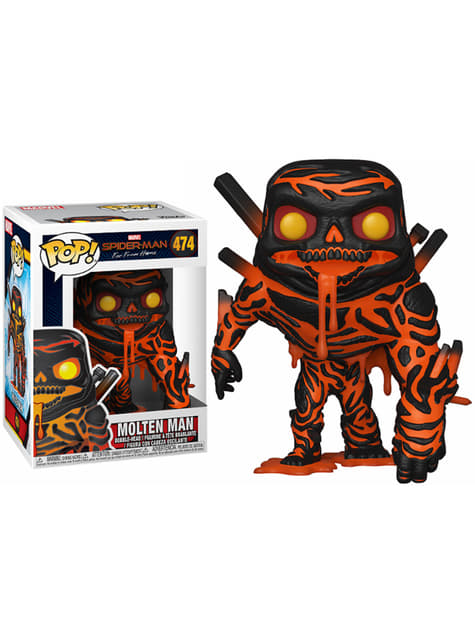 Funko POP! l'Homme de métal (Molten Man) - Spider-Man: Far From Home
