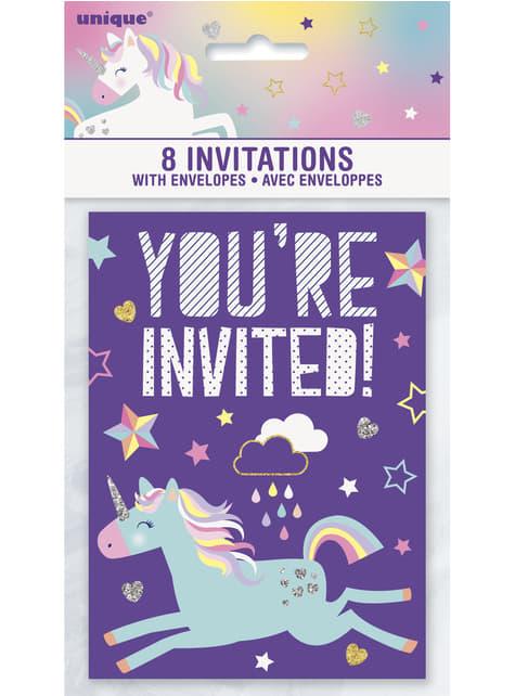 8 pozvánek Unicorn Party